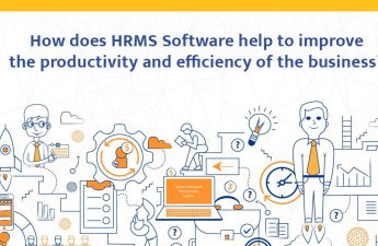 How does HRMS Software help to improve the productivity and efficiency of the business